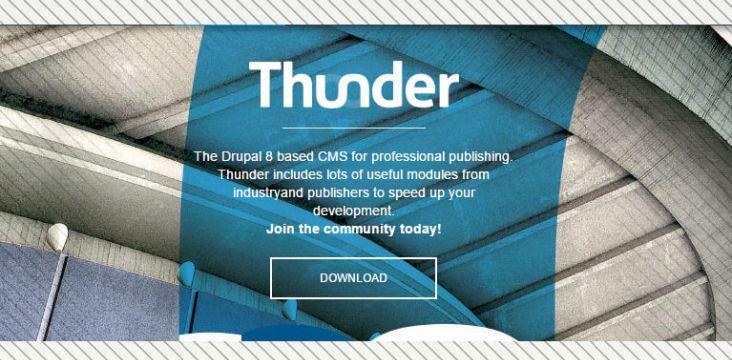 Thunder, Distribution Drupal 8