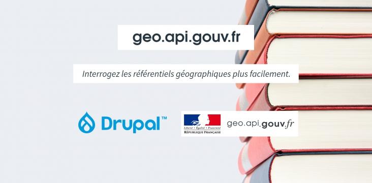 Image illustrant l'utilisation de l'API geocoding de la plateforme Open Data en France