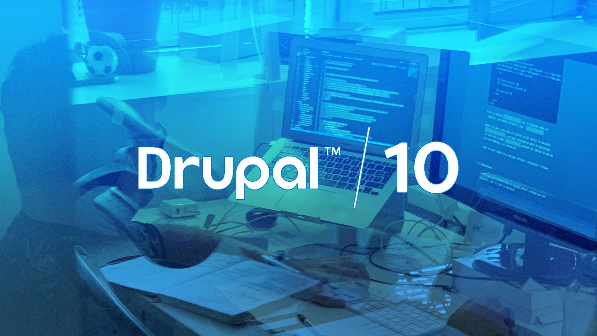 Image illustrant un développeur Drupal 10