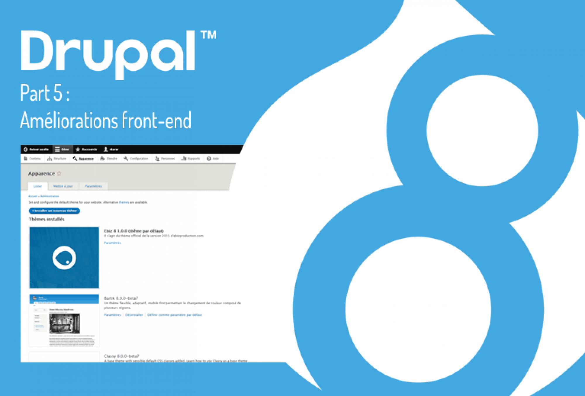Drupal 8, front-end