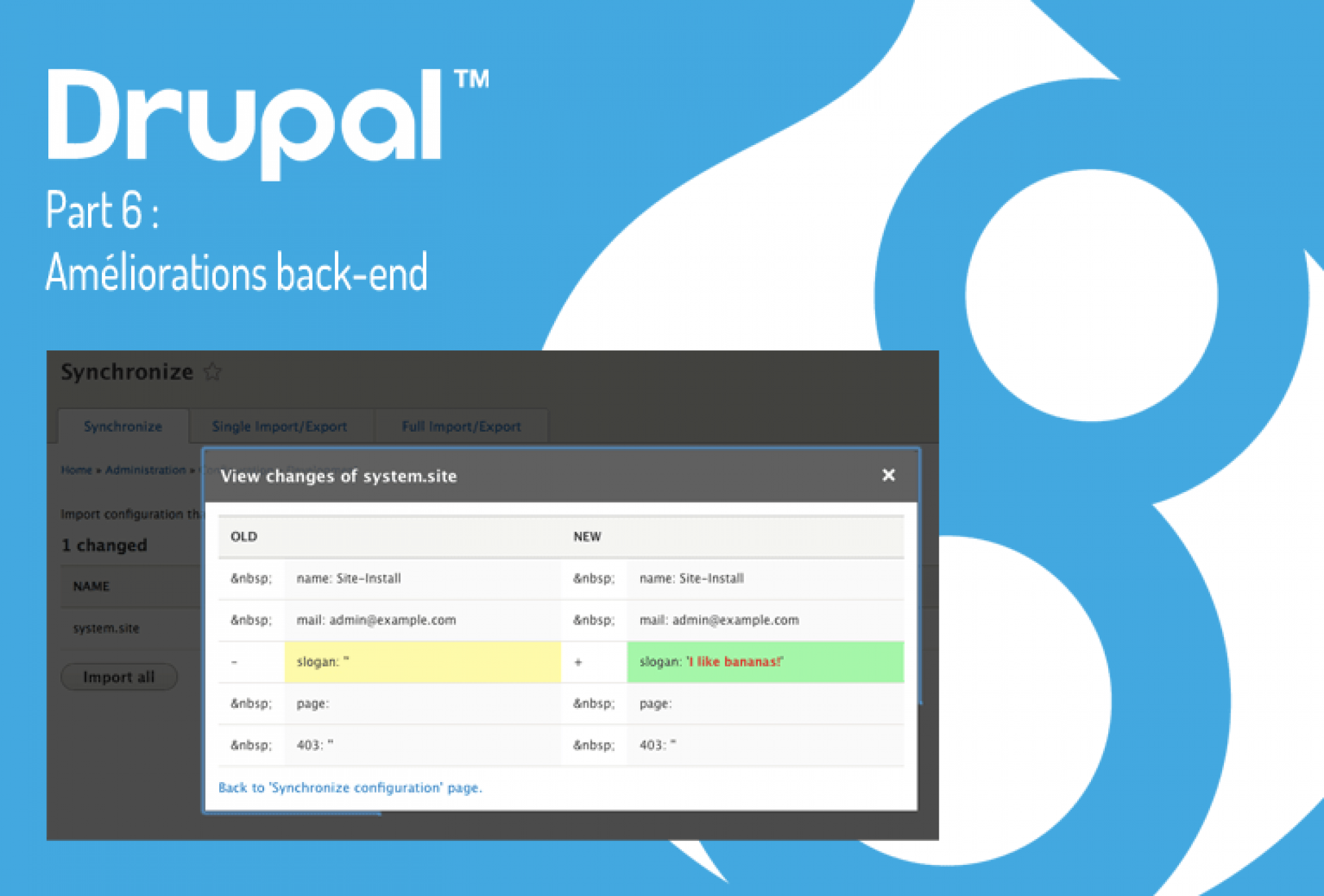 Drupal 8 back-end
