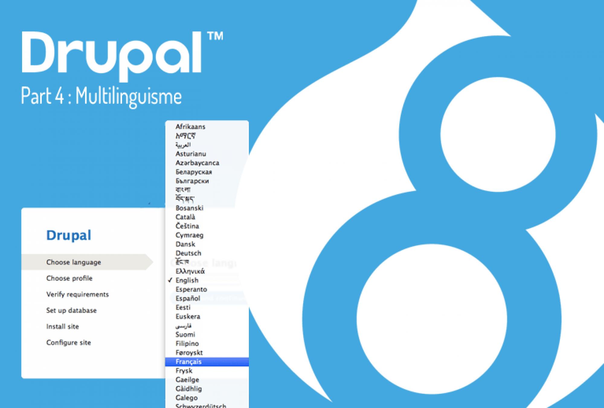 Drupal 8, multilinguisme
