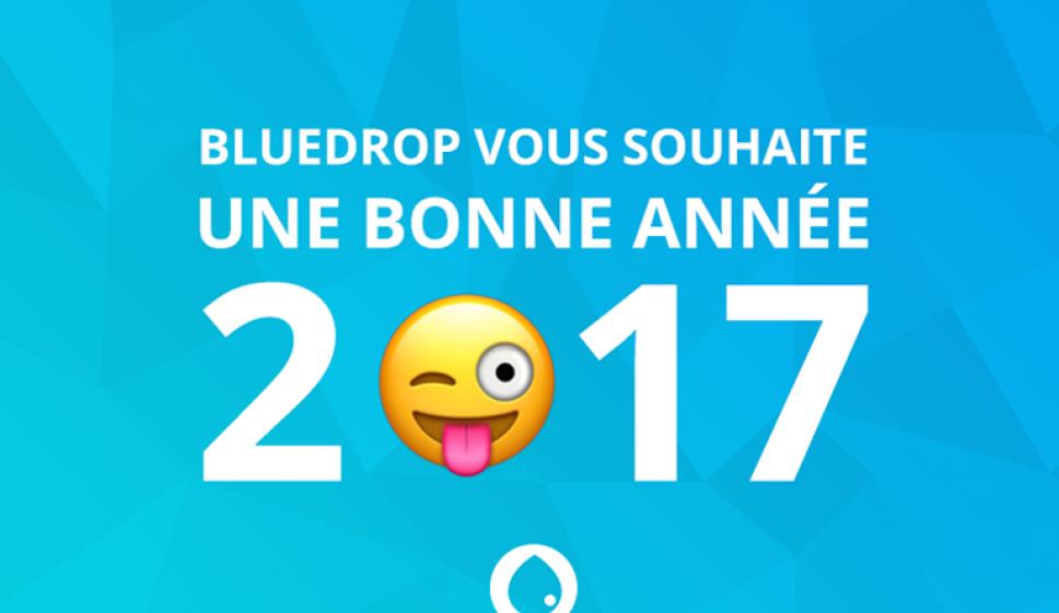 Carte voeux bluedrop.fr